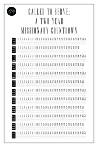 Missionary Countdown Chart