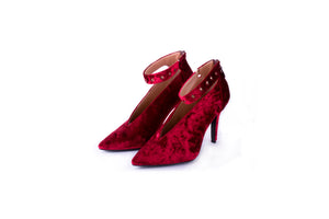 Velvet Pumps Red