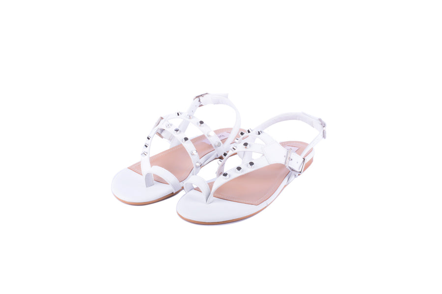 Gladiator One-toe Sandal (white)