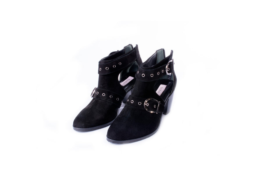 Open Toe Texas Boots (Black)