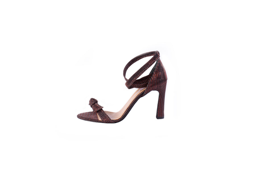 Bronze ribbon sandals