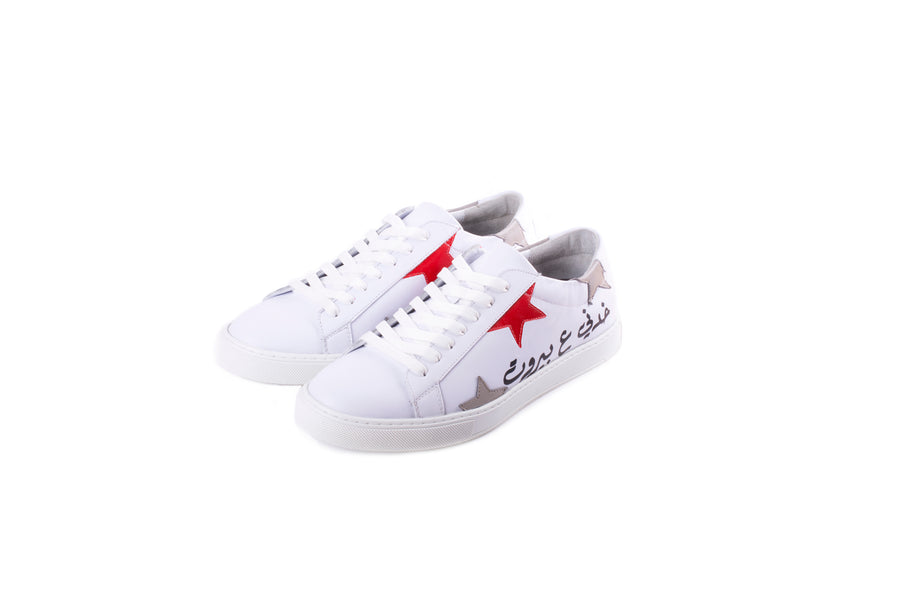 Khedni 3a Beirut Sneakers Men (White/Red)