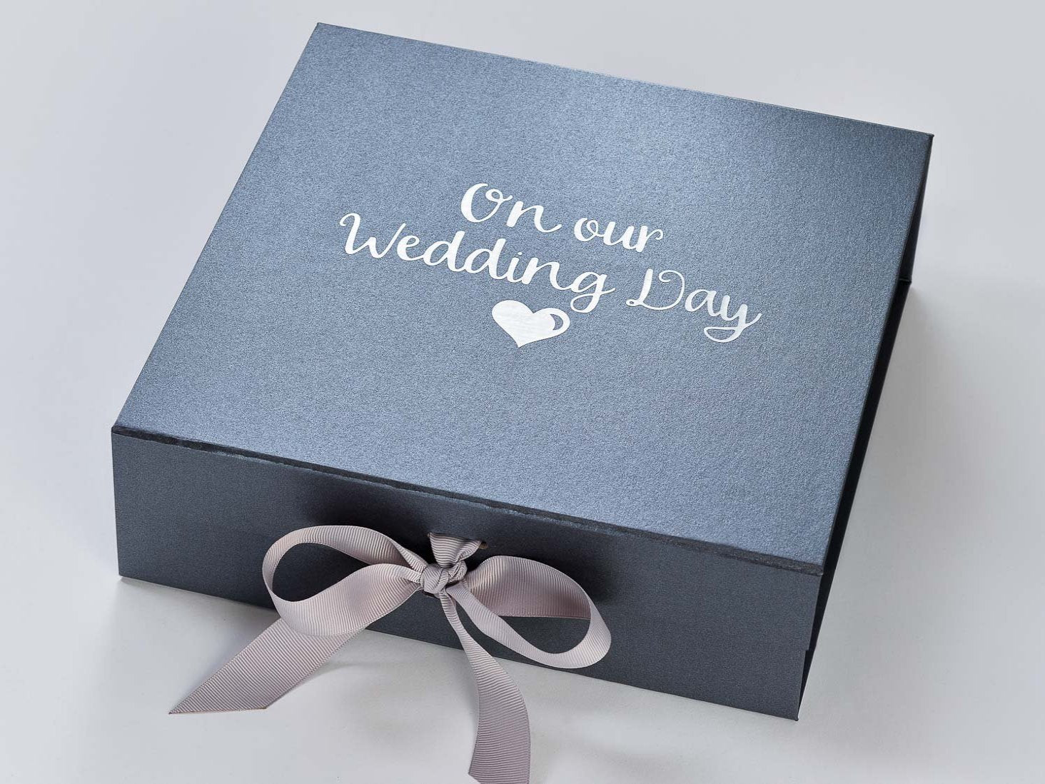 Pewter Large Gift Boxes With Changeable Ribbon