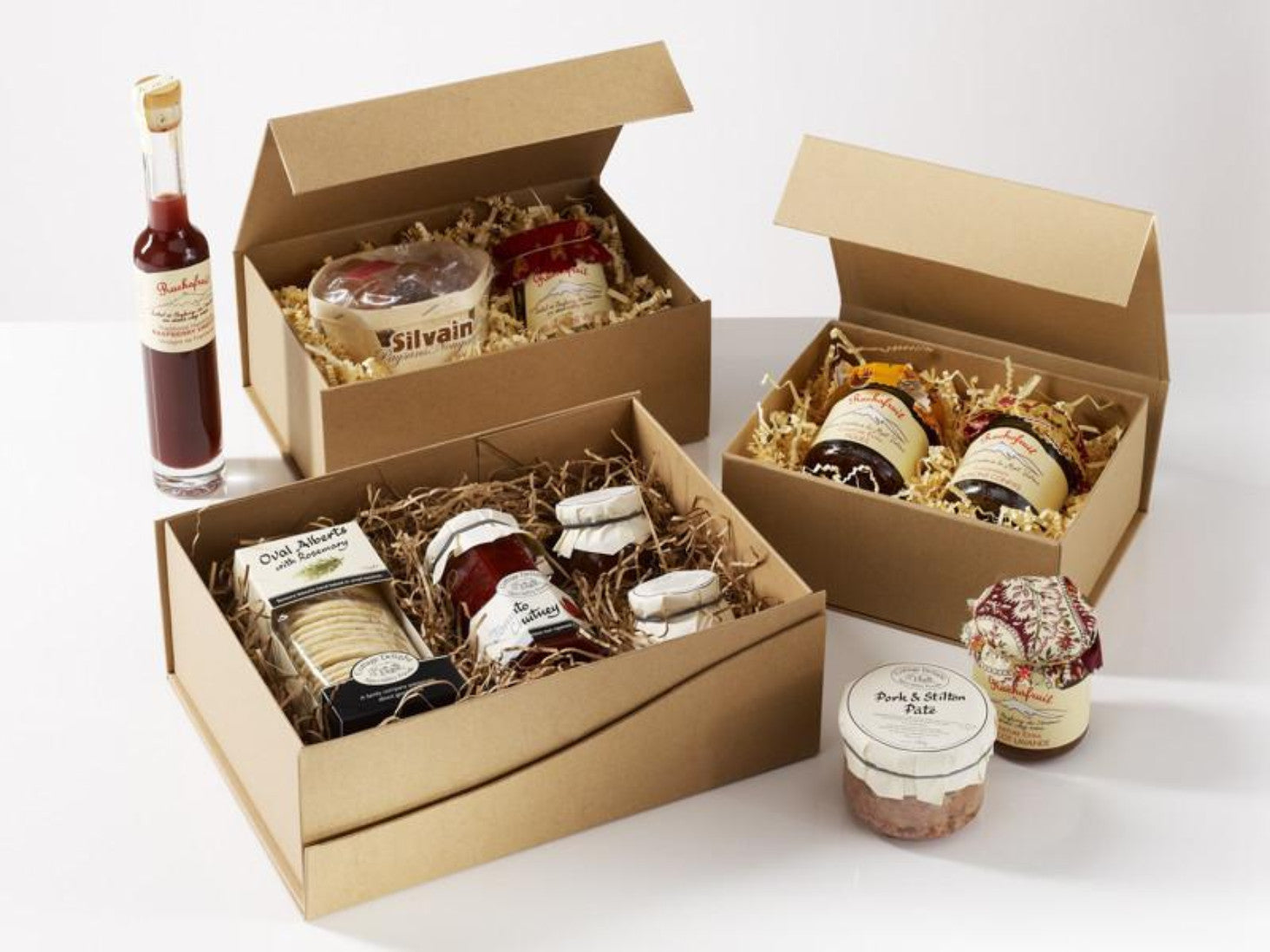 ... Natural Kraft Gift H&er Packaging for organic food ... & Natural Brown Kraft Folding Gift Boxes with Magnetic Closure ...