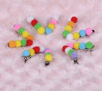 10 Pieces Fuzzy Small Ball Hairpin