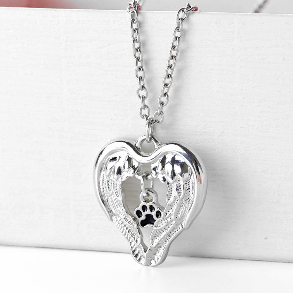Dog Memorial Crystal Necklace