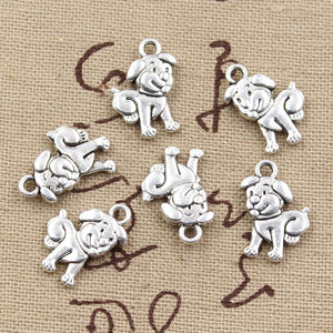 Lovely Double Sided Dog Pendant