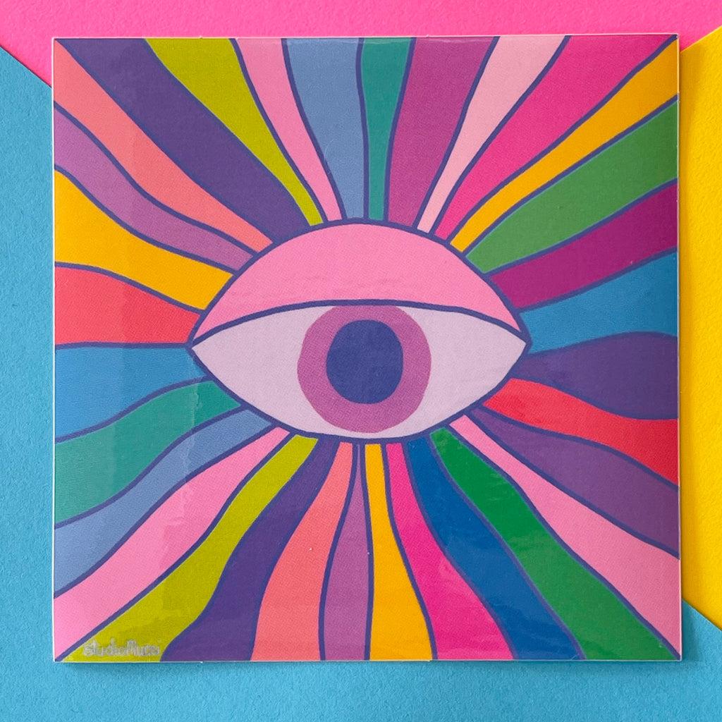 Eye Contact Sticker (4x4)