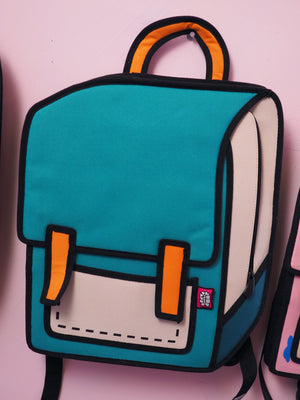teal backpack