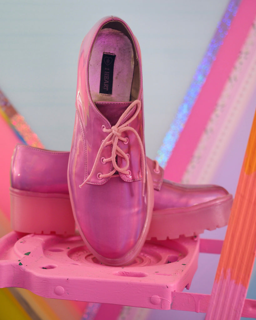 bubble gum shoes
