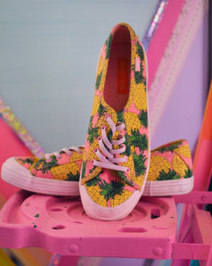 pink pineapple sneakers
