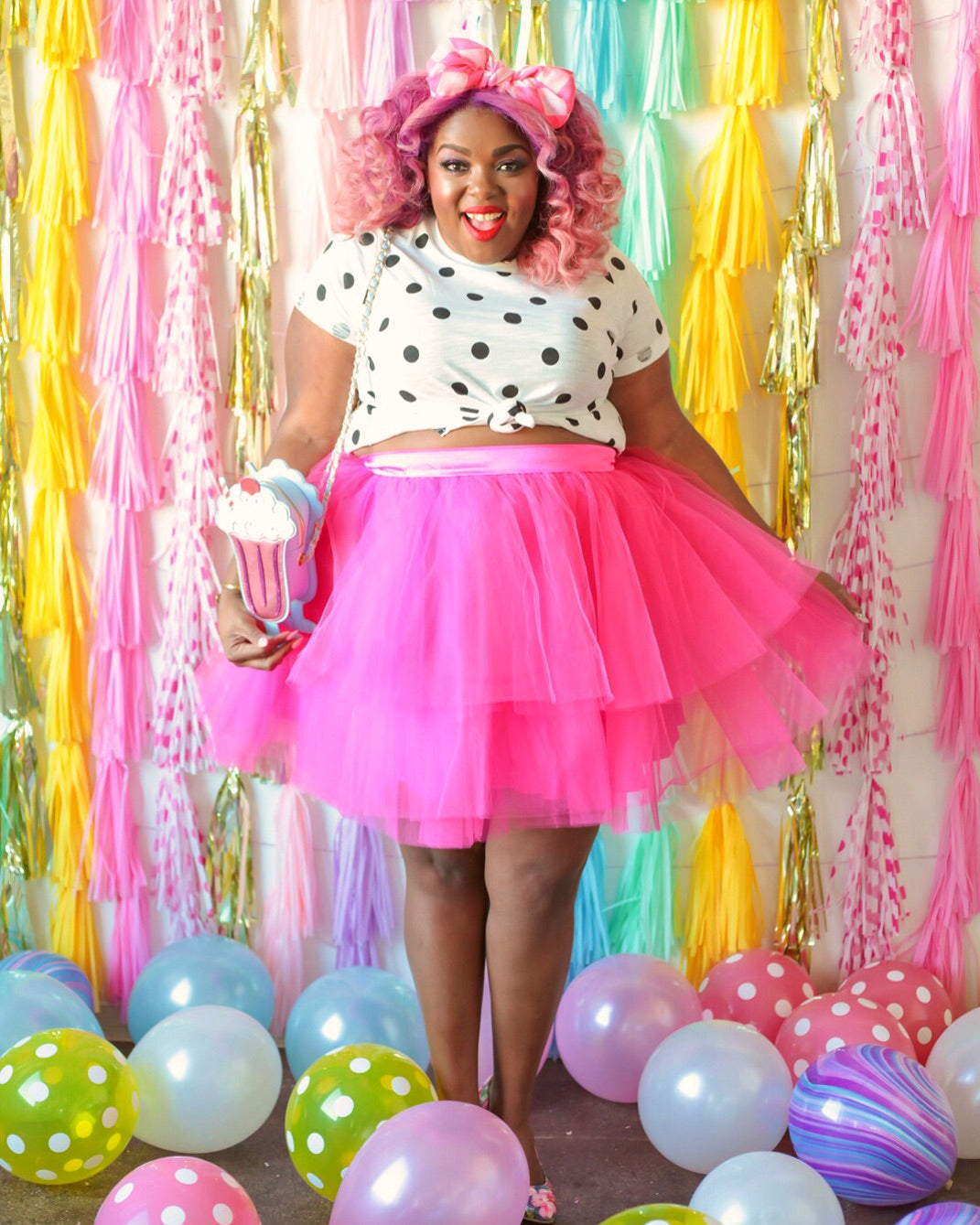 hot pink tulle skirt