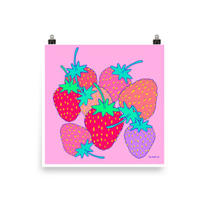 Strawberries (matte print)