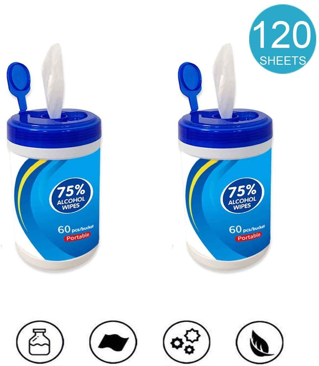 Home Restaurant Hotel 75/% Alcohol Wet Wipes Antiseptic Cleaning Disinfectant Wipes 60 Sheets//Pack Portable Sterilization Wipes Wet Wipes for Tourism Office Car,3 Packs 180 Sheets