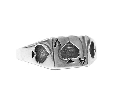 Classic Ace ring (925S) - Urban Chains