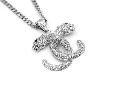 Iced Leopard necklace silver - Urban Chains