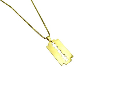 Golden Razor blade necklace - Urban Chains