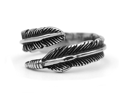 Classic feather ring - Urban Chains