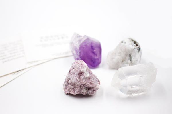 cosmic lullaby sleep amethyst crystal rock gift set