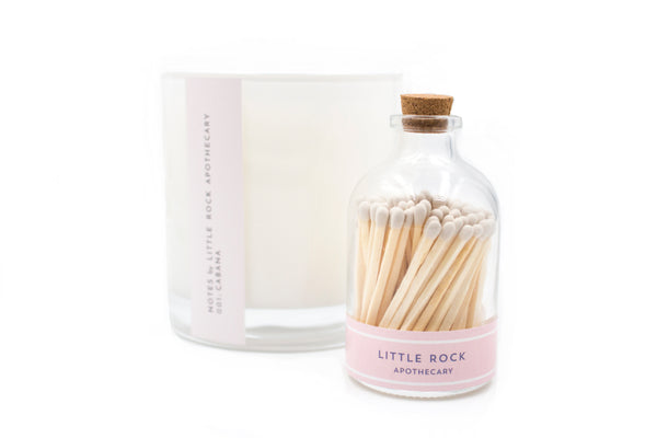 white apothecary jar fancy matches