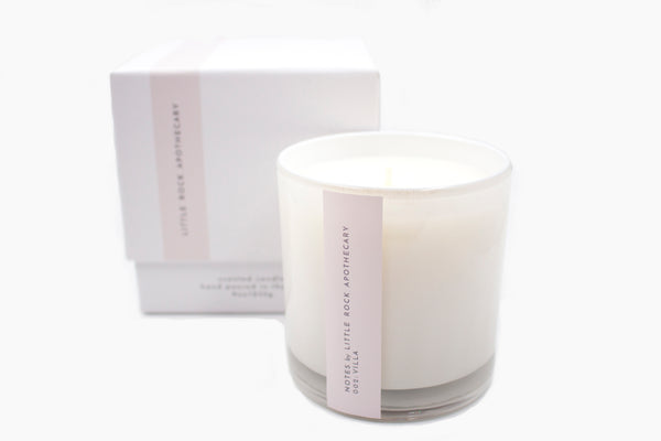 villa luxury soy scented candle gift box