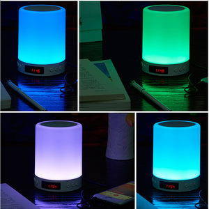 Dimmable Smart Touch Night Light with Bluetooth 5.0 Speaker, Hands-free Music Player【With 32G Memory Card】