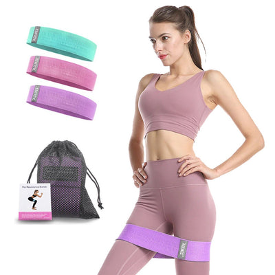 Wide Hip and Booty Resistance Bands Set