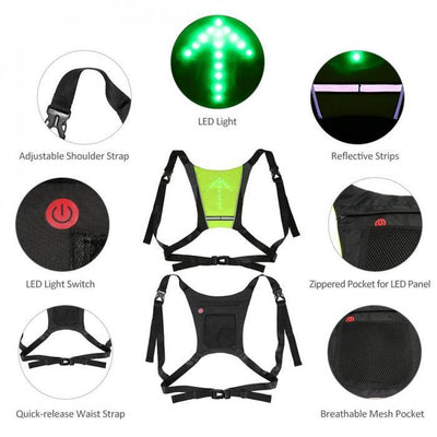 Cycling LED Safety Signal Vest