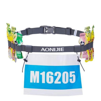Race Number Belt With Gel Holders