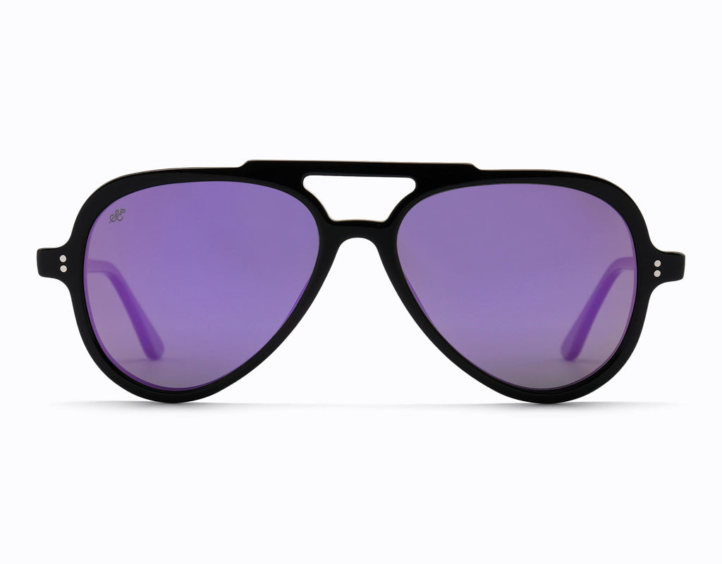 SummerEyez | Bahama | Colour: Black - Purple Mirror