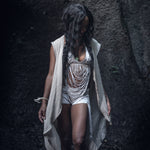 lightweight cotton summer vest laser cut