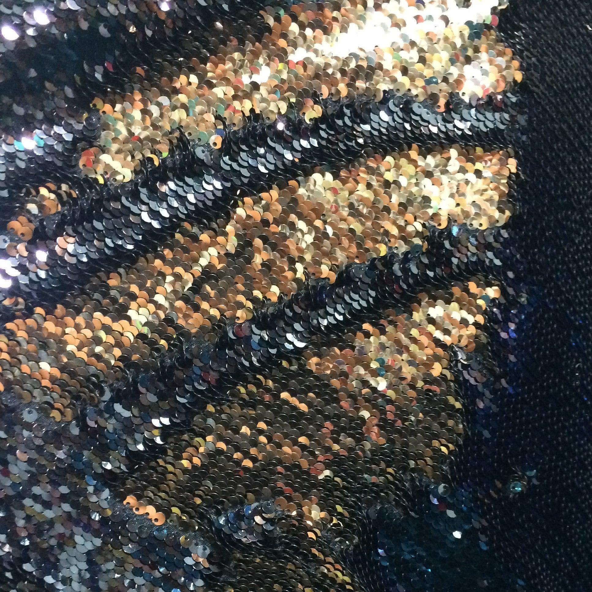 Custom Color Changing Sequin Fringe Hood