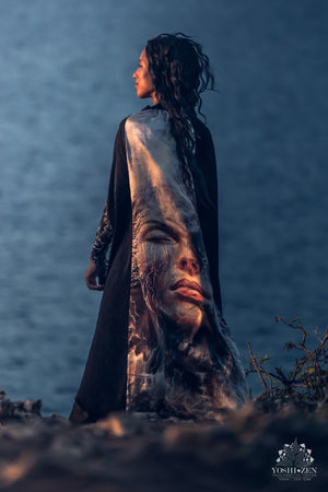 Dissolution of Ego Cape - Wearable Art - Olga Klimova