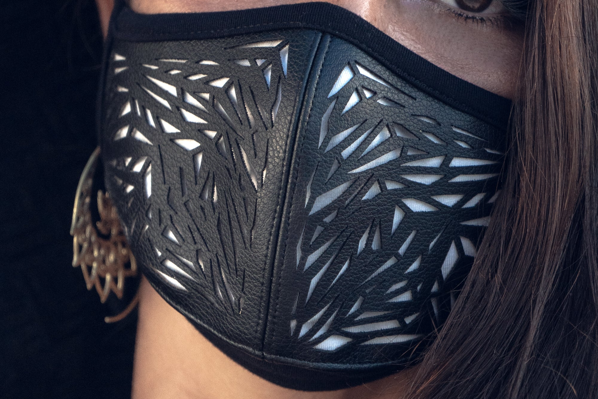 Galactic Glass Cactus Leather Mask