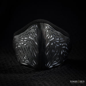 Galactic Glass-Laser Cut Cactus-Leather Mask