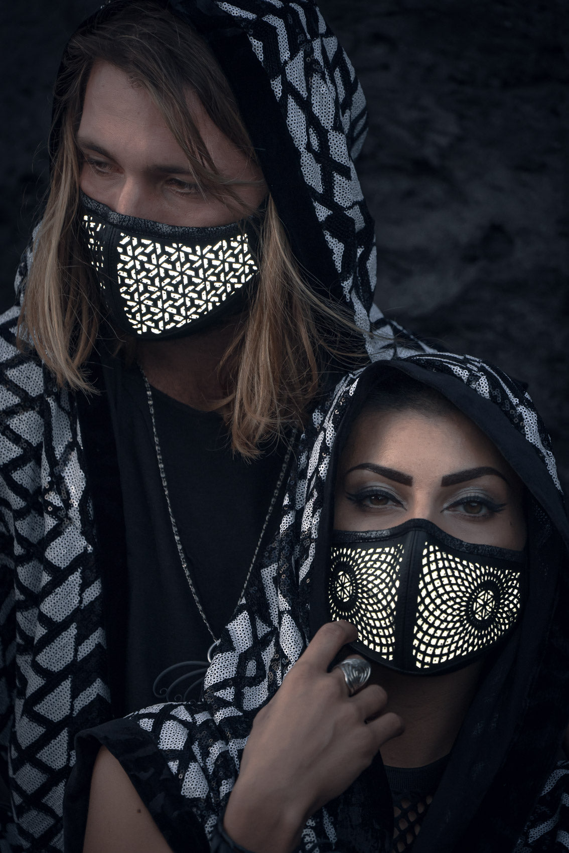 Reflective Cactus Leather Mask (Lumina)
