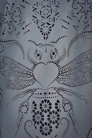 Bee Cosmic Laser Cut Vest (White/Cream)