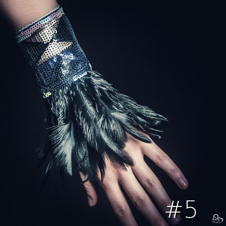 Tribal Feather Wrist Cuffs (Multiple Colors)