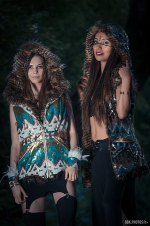 Aztec Warrior Sequin Vest (Multiple Colors)