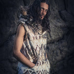 Tribal Warrior Sequin Vest (White & Bronze)