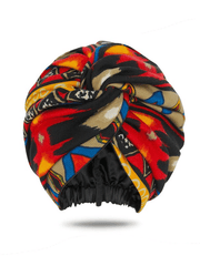 Aztec Print Satin-Lined Head Wrap