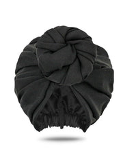 Black Front Knot Turban