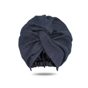 Denim Satin-Lined Turban