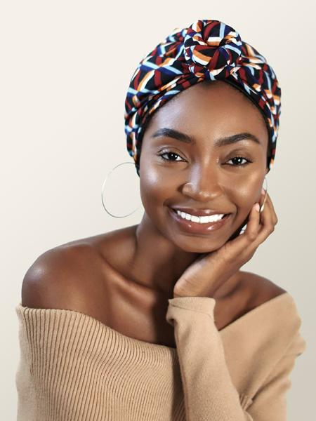 Front Knotted Head Wrap For Women
