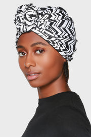 front knot turban hat