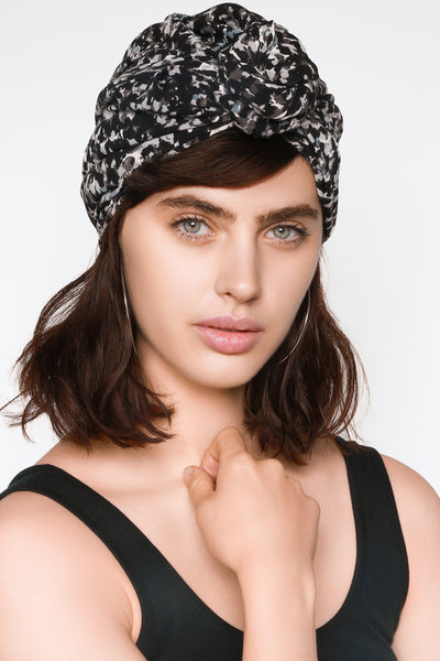 front knotted turban for women