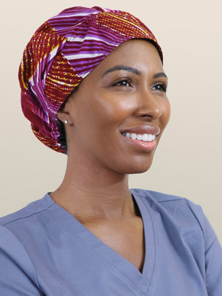 Satin-Lined Surgical Caps For Women