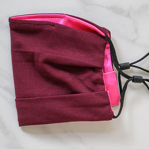 Mulberry Face Mask Satin Pink Lining