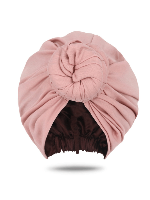 Nude Pink Front Knot Turban For Women | Head Covers For Women | Head Wraps for Women