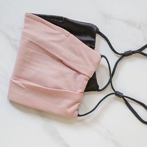 Nude Pink Face Mask Black Satin Lining